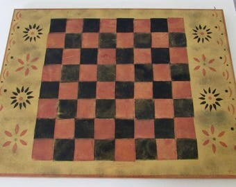Vintage Checkers Board Game