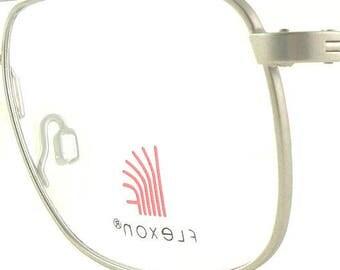 Vintage Flexon Pewter Eye Glasses Eyeglasses Sunglasses Frame Eyewear