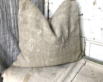 MEND - reconstructed vintage postes france mail bag pillow