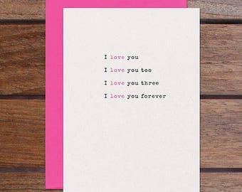 Love Forever (Letterpress)