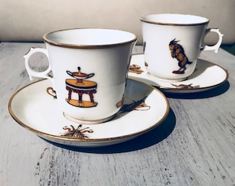 Pair of Demitasse Cup and Saucer Set