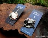Eclipse Kitsune Enamel Pins