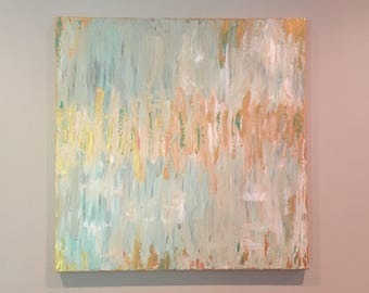 Confetti, textured abstract painting, home decor, original art