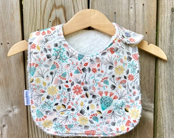 Chenille Baby Bib - Bloomin Desert, Coyote Collection