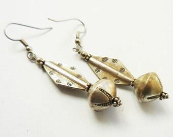 Women's Silver Earrings, Thai Silver Earrings, Tribal Earrings, Silver Drop Earrings