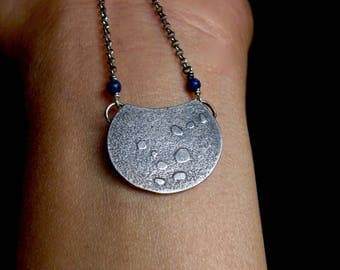 Sterling and Lapis Lazuli Necklace - I Loved You Best