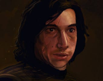 Star Wars Kylo Ren Art Print