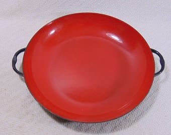 Vintage Antique French Enamelware Caravelle Cooking Pan