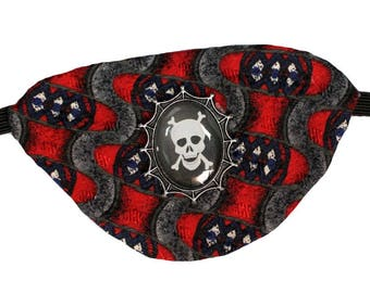 Eye Patch Gothic Skull Swashbuckler Buccaneer Steampunk Pirate Fashion Cosplay
