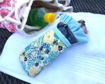 Floral and Chambray dual sunglass case