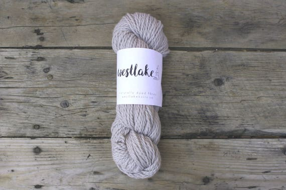 Pale Grey Wool, Naturally Dyed Merino Yarn