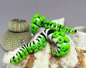 Sandworm Tentacle Fake Gauge Earrings- Glow in the Dark