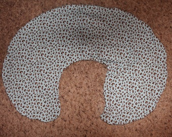 Blue and Brown Leopard Print Boppy Cover-easy on/off