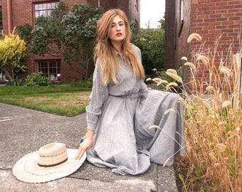 50's Style Cotton Maxi Dress