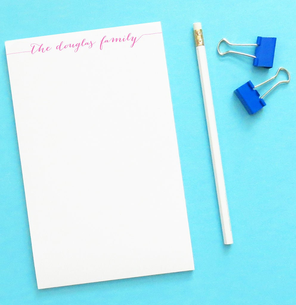 Personalized Notepad Set Personalized Family Gifts For Family