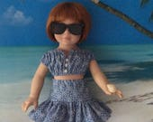 """RESERVED American Made Girl Doll Clothing for 18 Inch Dolls-Hawaii 1940 Crop Top and Full Skirt Will Fit Robert Tonner's """"My Imagination""""™"""