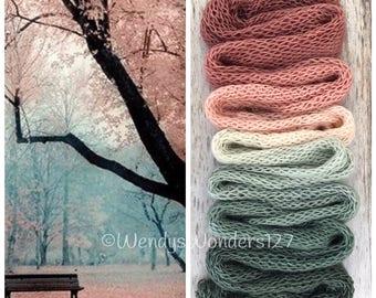 Hand Dyed Yarn, Gradient Yarn, Fingering Weight Yarn, SWM/Silk