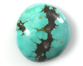 Kingman Natural Turquoise Freeform Cabochon/ 26.38 Carats/ 24.8x23mm/ Not Backed