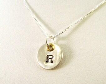 SALE CIJ2017 Renaissance Monogram Necklace with Grommet  - Sterling Silver