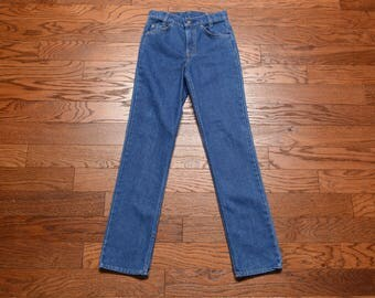 vintage 70s Levis student jeans super straights white tab 718-0913 stovepipe 1970 Levi's student fit 27x32 vintage jeans long lean