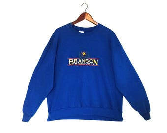 Vintage Branson Missouri Sweatshirt // Vintage Branson Souvenir Crew Jumper // Vintage Branson Crewneck Sweatshirt