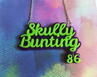 Laser Cut Acrylic Custom Roller Derby Name Necklace 16 Inch Custom Necklace