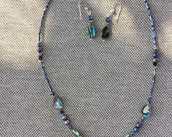 Abalone pearl paradise necklace set
