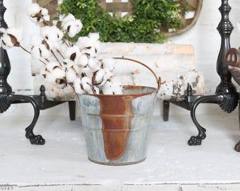 Rustic Flower Girl Basket Farmhouse Wedding Flower Pot