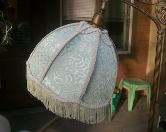 New! Seafoam Brocade Lamp Shade 4 Bridge Lamp