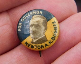 Antique Political Pin Pinback Button From 1919 New Jersey Governor Candidate Newton A K Bugbee dr1