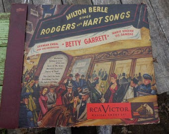 Vintage 1940s 78 Records/Albums Vinyl Comedian Milton Berle Lehan Engel and His Orchestra Betty Garrett RCA Victor Musical Smart Set of 4
