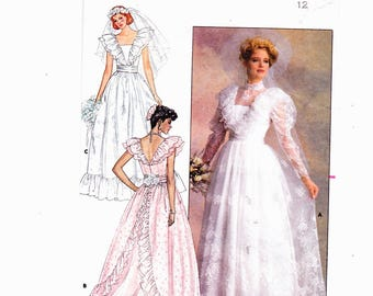 Butterick 4647 Size 12 UNCUT Misses Bridal Gown/ Bridesmaid/ Formal dresses