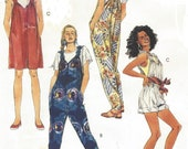 1990s McCalls Sewing Pattern 5958 Womens Novelty Overalls in 3 Lengths Romper or Playsuit Size 18 20 Bust 40 42 FF Summer Overalls