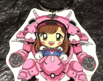 D.Va Chibi Keychains (or Earrings, Necklaces, Charms, etc)