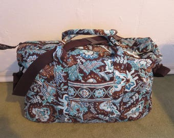 Vera Bradley Large Duffel Bag made in USA Very Bradley Carry On Bag