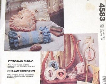 Vintage Victorian Magic Craft Sewing Pattern McCall's 4583 645, Decorative Home Accessories, Pillows, Picture Frames, Uncut Factory Folds