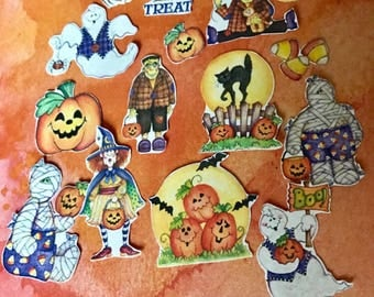 Halloween planner sticker Pre-order. 15piece set with 12 piece mystery set if ordered before August 1. Will fit most planners