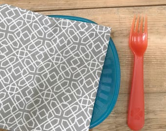 Napkins for kids - Back to School - Grey Design