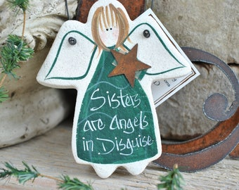 Sister Gift Salt Dough Ornament / Birthday Xmas Mother's Day Gift