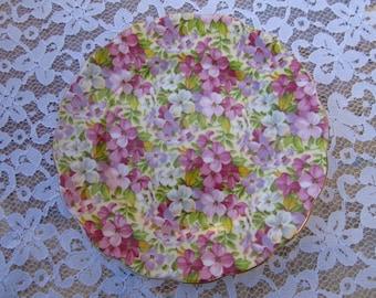 Vintage Made in England Royal Standard Virginia Stock Floral Dessert/Salad Plates