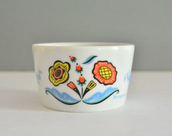 Berggren Sugar Bowl - Vintage Dishes Retro Dish Folk Art Rosemaling var sa god
