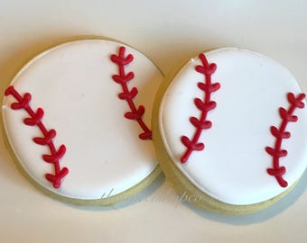 Baseball Cookies 3 dozen