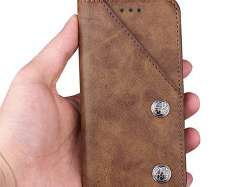 Pouch Style iPhone 7 Case Wallet Leather with Card Slot and Standable, iphone 7S+Plus case wallet, iphone 6S plus case wallet