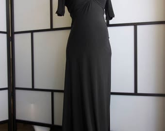 25% OFF SALE price black maternity Gown,slim fit maternity dress, off shoulder sleeves,maternity props,bridal, bridesmaids,