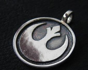 Silver Rebel pendant