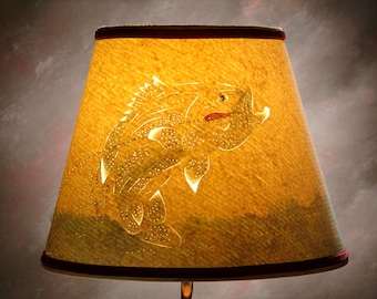 Handmade Largemouth Bass Lamp  Shade