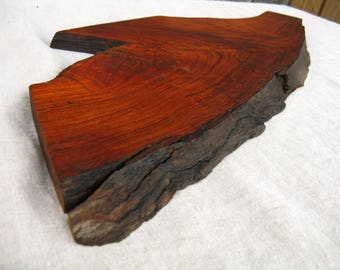 Wood Serving Tray / Chopping Block / Cutting Board / Home Decor - Natural Edge Salvaged Texas Mesquite Wood (can be personalized)
