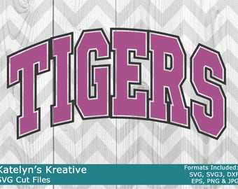 Tigers Arched SVG Files