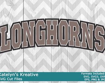 Longhorns Arched SVG Files