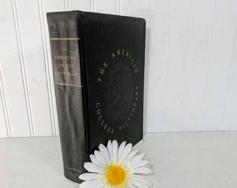The American College Dictionary Text Edition Book ©1953 - ACD Dictionary with Excellent Complete Mint Pages Black & Gold Dictionary Book